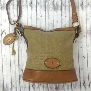 FOSSIL-Vintage Leather Crossbody Handbag; Exterior
